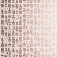 papier peint Miss Print Hieroglyph blanc-cuivre