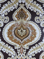 beautiful damask on a dark brown background