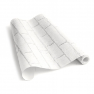 witte bakstenen behang