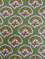 green brown little flower on a green background floral wallpaper