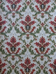 vintage damask wallpaper red green