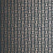 Miss Print behang Hieroglyph zwart-koper