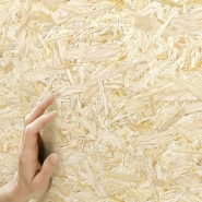 Oriented strand board wallpaper