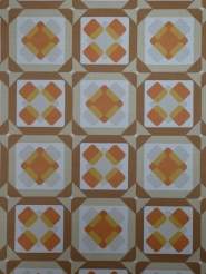 orange brown geometric pattern vintage wallpaper