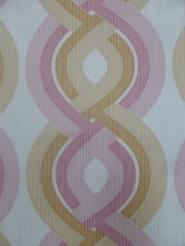 vintage behang geometrisch roze beige