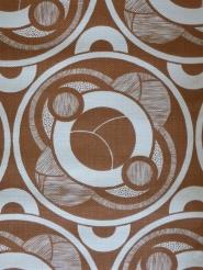 bruin geometrisch behangpapier