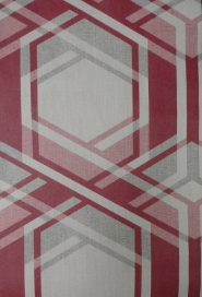 red grey geometric figure