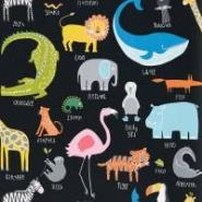 Scion Animal magic behang dieren op een zwarte achtergrond