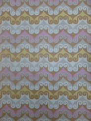 vintage geometric wallaper brown pink