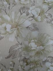 vintage floral wallpaper green brown gold