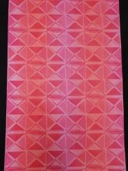 rood roze driehoekjes in blokjes