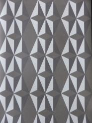 white grey non woven geometric wallpaper