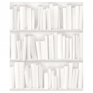 white bookshelve wallpaper