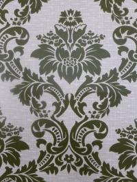 vintage medaillon behang groen