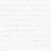 Wit bakstenen behang