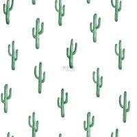 ESTA behang kleine cactus smaragd groen