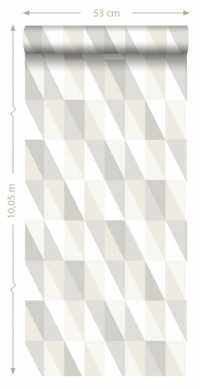 papier peint ESTA art deco triangles gris vert menthe