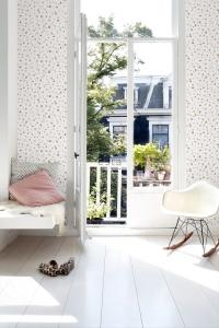 ESTA terrazzo wallpaper pink and brown