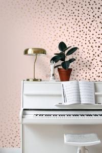 ESTA terrazzo behang roze bruin