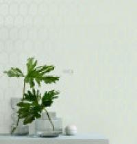 ESTA art deco wallpaper mint green with golden arches