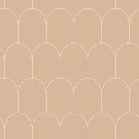 ESTA art deco behang bruin met witte bogen