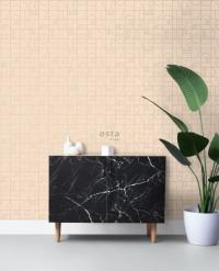 ESTA art deco wallpaper beige and gold