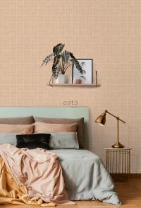 ESTA art deco behang beige en wit