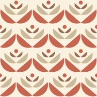 LAVMI behang Cookies rood beige geometrische bloem