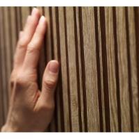Gestreept hout imitatie behang