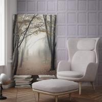 Lambrisering imitatie behang lavendel