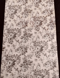 Vintage floral wallpaper with brown and beige flowers
