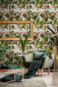 Papier peint de luxe Beverly Hills Flamant