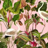 Luxebehang Beverly Hills Flamingo