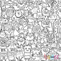 Burgerdoodles colour in wallpaper