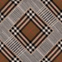 Luxebehang Patchwork bruin