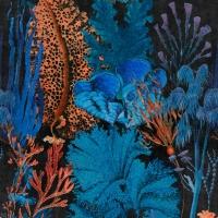 Luxebehang koraalrif blauw