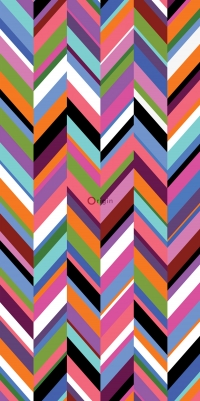 muurposter zigzag chevron - Origin