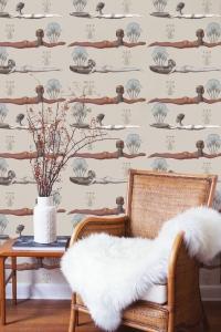 Egypt wallpaper taupe