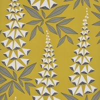 Miss Print wallpaper Foxglove yellow