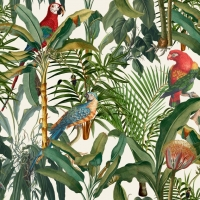 Luxebehang Parrots of Brasil