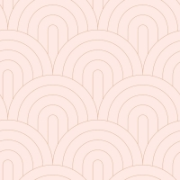 Pink with golden arches art deco wallpaper
