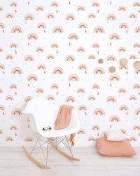 Lilipinso wallpaper rainbow pink