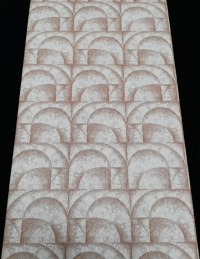 Papier peint vintage géometrique arcs bruns