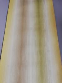Papier peint vintage géometrique lignes vertes, bruns et jaunes