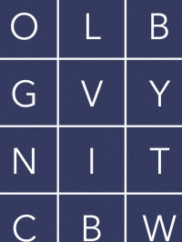 LAVMI wallpaper Alphabet blue