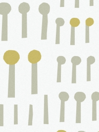 LAVMI behang Together wit-geel