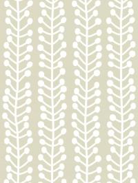 LAVMI wallpaper Herbs white geometric figure on a beige background