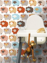 sheep kids wallpaper LAVMI