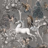 Luxebehang Imaginarium grijs