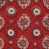 Luxebehang Madder rood